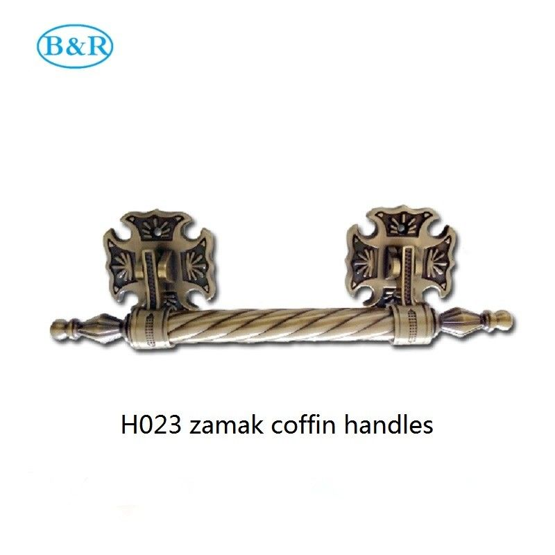 H023 Zinc Alloy Funeral Accessories / Rocker Metal Casket Handle Size 30*7.5 Cm